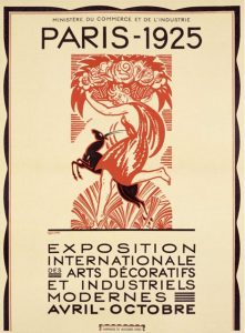 Poster of the international exhibit of decorative arts