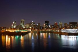 Montreal skyline at night
