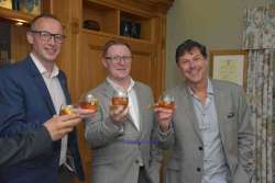 Brendan McCarron, Head of Maturing Whisky Stocks for The Glenmorangie Company, David Blackmore Glenmorangie-Ardbeg and Dr Bill Lumsden, Director of Distilling, Whisky Creation & Whisky Stocks