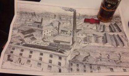 Zeichnung der alten Powers Destillerie in Dublin