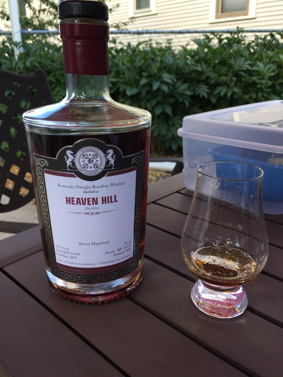 Heaven Hill 15 Sherry Finish Review