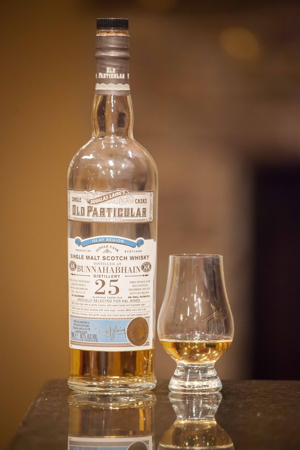Bunnahabhain 25 (Old Particular 1990/2016 K&L Selection Cask #DL11115) Review