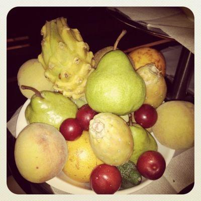 Fresh fruit everywhere!