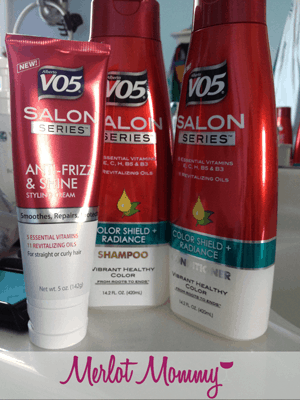 My hair is smoother with VO5 Anti-Frizz and Shine Styling Cream {Review + Giveaway}