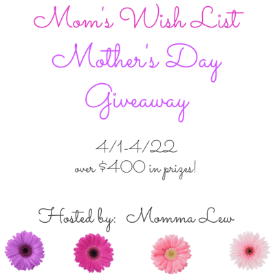 Enter to win the Mom's Wish List Mother's Day #Giveaway