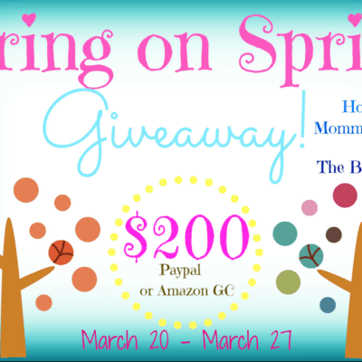 Bring on Spring $200 PayPal Giveaway
