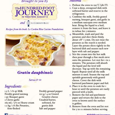 DreamWorks Pictures' THE HUNDRED-FOOT JOURNEY Gratin Dauphinois Recipe #FoodieFriday