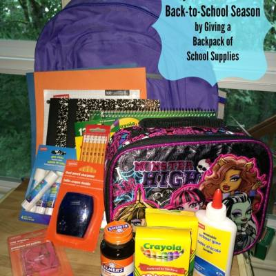 Pay-It-Forward this Back-to-School Shopping Season by Giving a Backpack of School Supplies #givingbackpack #ebates