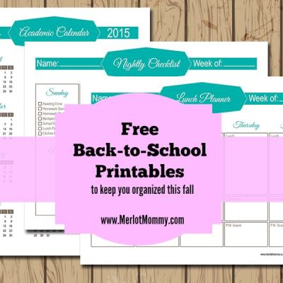 Free Back-to-School Printables to Keep Your Family Organized