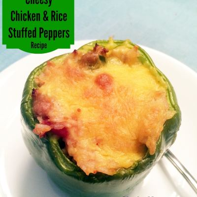 Cheesy Chicken and Rice Stuffed Peppers Recipe