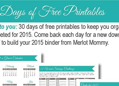 30 Days of Free Printables: Weekly Meal Planner Worksheet