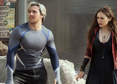 Exclusive Interview: Talking Quicksilver and Scarlet Witch with Aaron Taylor-Johnson and Elizabeth Olsen  #AvengersEvent