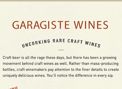 The Exciting World of Garagiste Wines