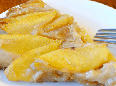 Easy Skillet Peach Cobbler with Honey from Barn2Door