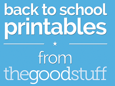 Back to School Lunchbox Printables