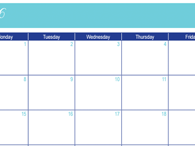 February 2016 Calendar: 30 Days of Free Printables