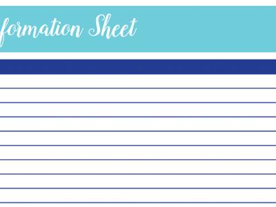 School Information Worksheet: 30 Days of Free Printables