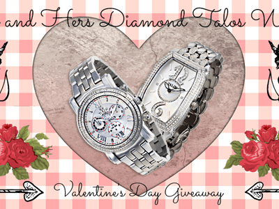 Giveaway: His + Hers TALOS Diamond Watches ends 2/9
