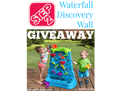 Step2 Waterfall Discovery Wall Giveaway