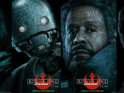 First Look – Rogue One: A Star Wars Story Character Posters Now Available