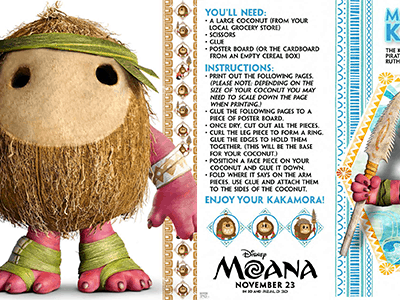 Moana Activity Pages