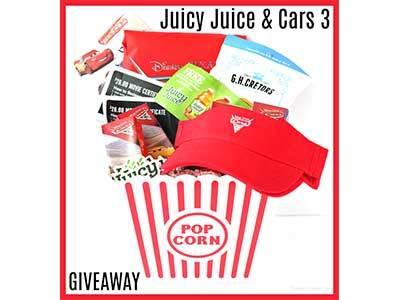 Cars 3 Juicy Juice + Fandango Prize Pack