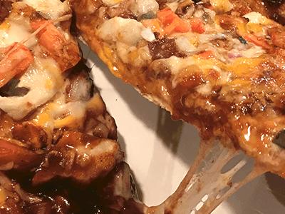 Papa Murphy's BBQ Chicken Pizza with KC Masterpiece Sauce