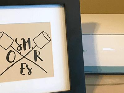 DIY Smores Bar Sign with Cricut