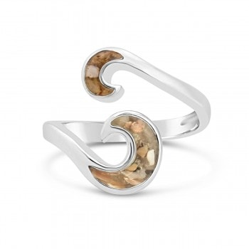 Dune-Jewelry wave bypass ring