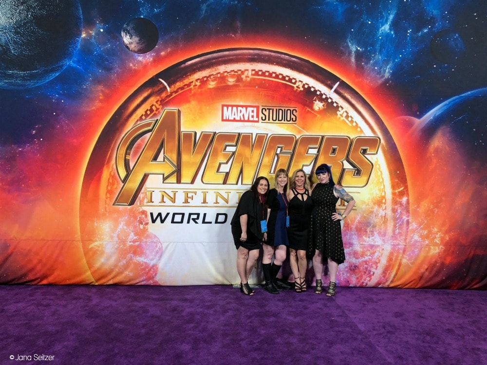 Walking the Purple Carpet at the World Premiere of Avengers Infinity War - red carpet photo opp