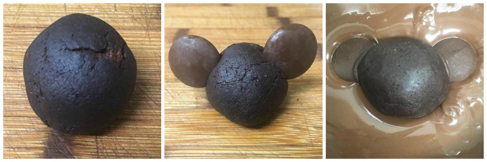 Mickey-Shaped Incredibles Cake Balls in process
