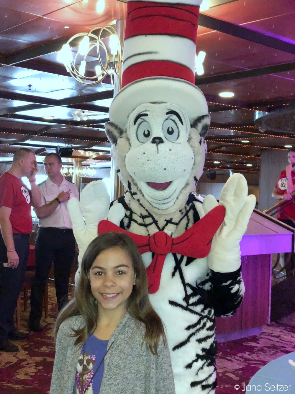 Best Cruise Activities for Tweens and Teens - Carnival Cruise - Cat and the Hat Photo Opp
