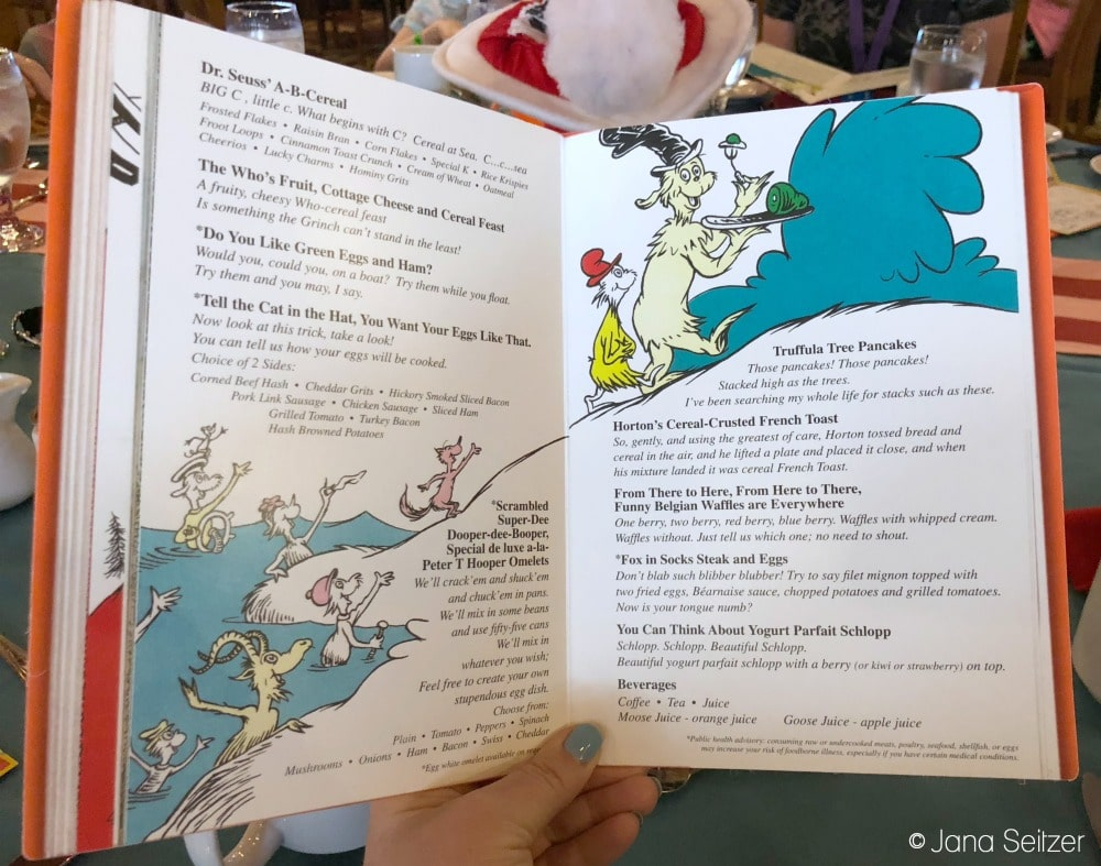 Best Cruise Activities for Tweens and Teens - Carnival Cruise - Green Eggs and Ham Breakfast Menu