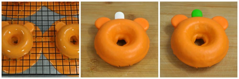 Mickey Pumpkin Donuts in process 2