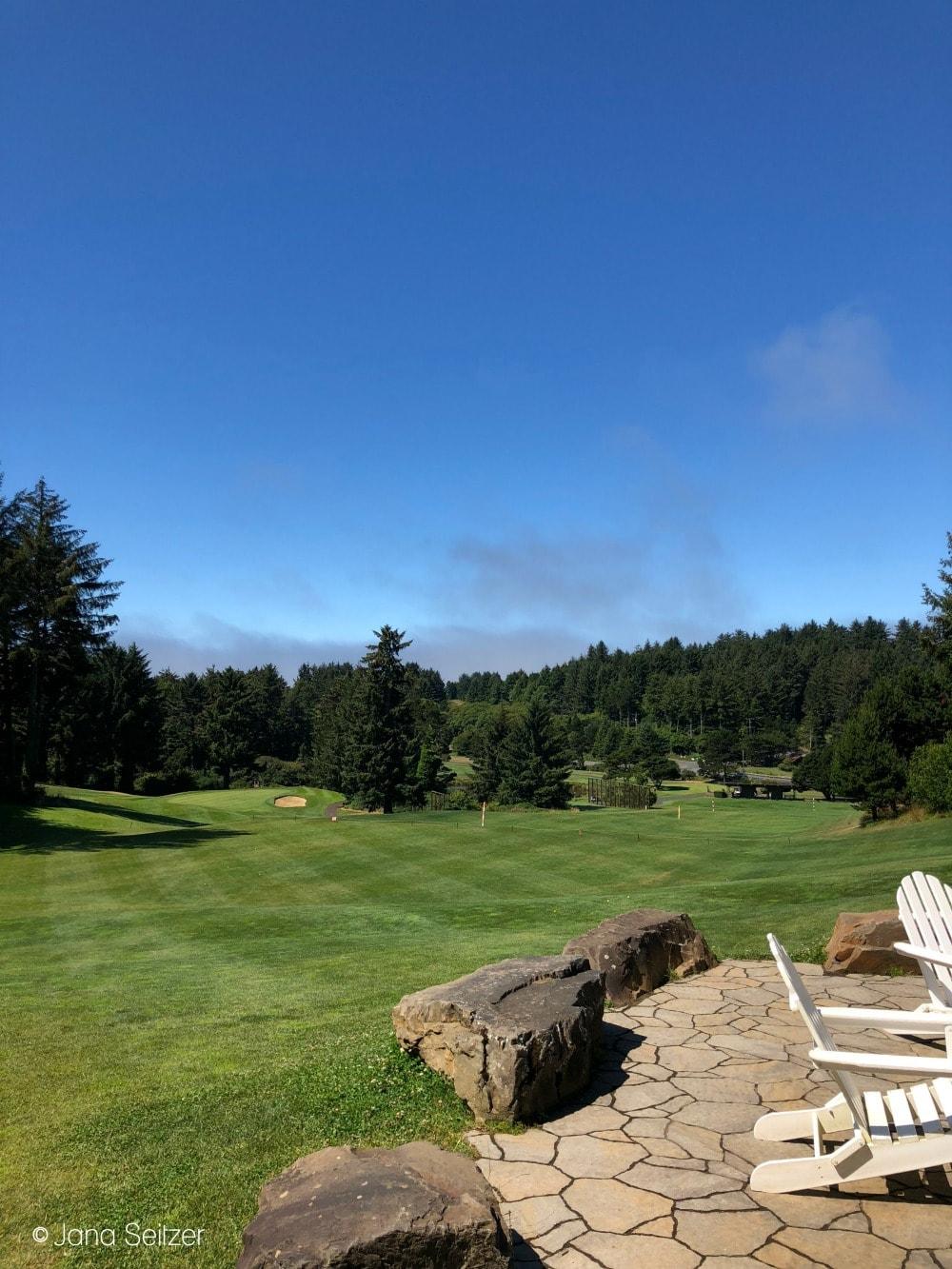 golf course view at Salishan Resort