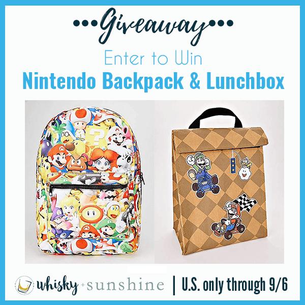 nintendo backpack giveaway