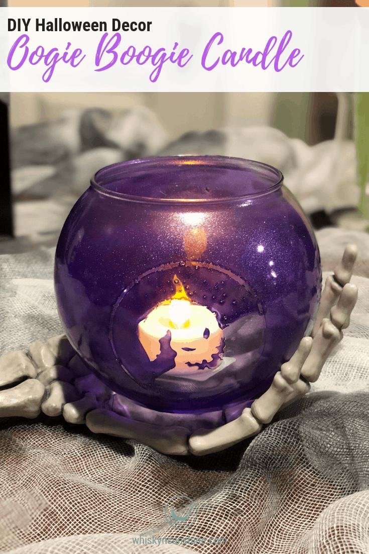DIY Halloween Decor - Oogie Boogie Candle Holder