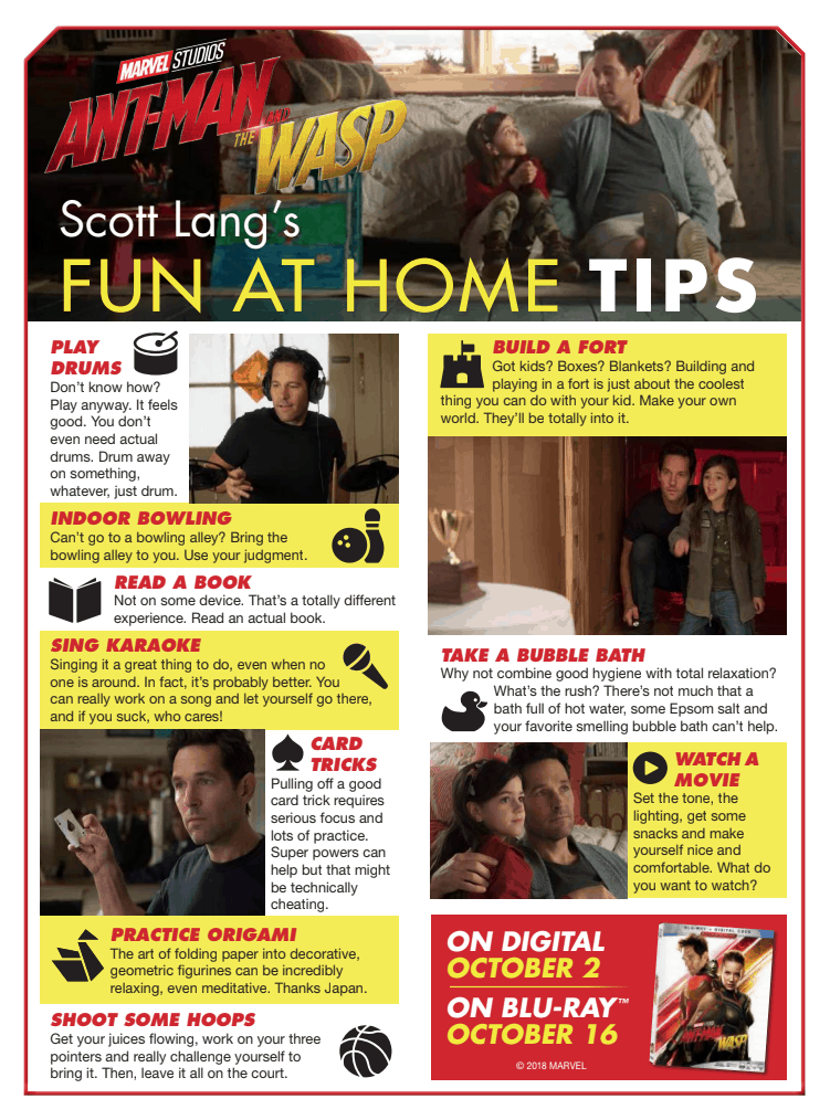 Scott Lang fun at home tips