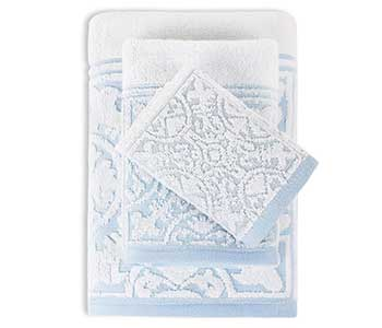 Luxor Linens Rosita Luxury Sculpted Egyptian Cotton Towel Set