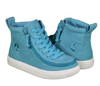 BILLY Footwear: Turquoise Canvas Kid's Hightop Shoes