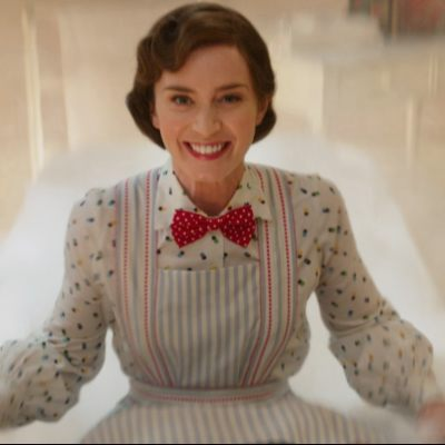An Interview with Mary Poppins – Emily Blunt on working with Dick Van Dyke, hanging 60-feet in the air on a crane, and her favorite costume