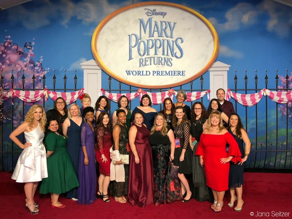 Mary Poppins Returns Red Carpet Premiere group photo