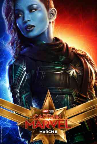 Captain MarvelCharacter Poster - Gemma Chan