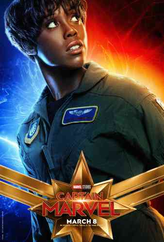 Captain Marvel Character Poster - Lashana Lynch