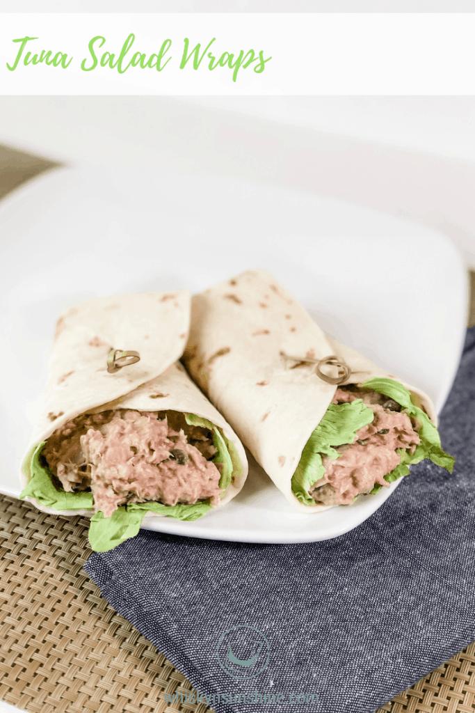 Tuna Salad Wraps with Hidden Valley Ranch Seasoning Shaker