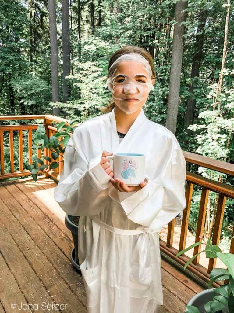 Cinderella Night in face mask robe mug