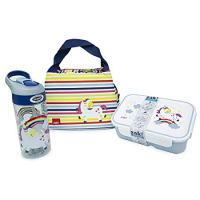 Happy Things - Insulated Lunch Bag, Two Compartment Bento and Water Bottle Set