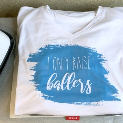 "DIY ""I Only Raise Ballers"" T-Shirt with Cricut Infusible Ink"