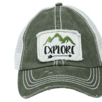 PonyFlo Hats Explore Mesh Back Cap
