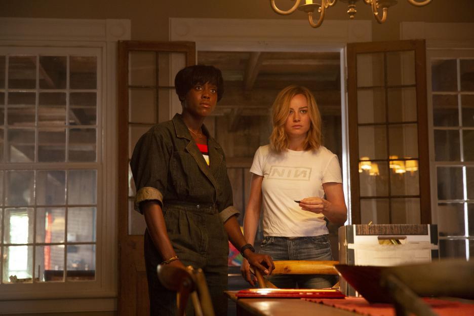 Captain Marvel and Monica at Rambeau house
